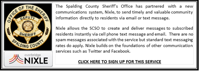 Spalding County, GA - Sherrif's Department